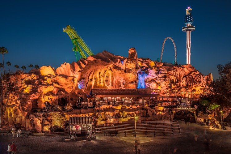 Calico Mine Ride Night Exterior